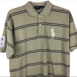 Polo Ralph Lauren Big Pony Polo Rugby Shirt Tan